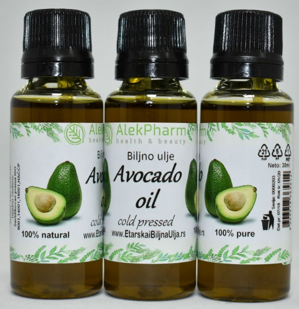 AVOKADO ULJE HLADNO CEDJENO - AVOCADO OIL COLD PRESSED
