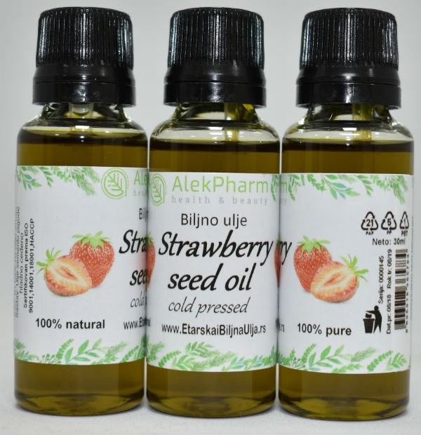 ULJE SEMENKI JAGODE HLADNO CEĐENO - STRAWBERRY SEED OIL COLD PRESSED
