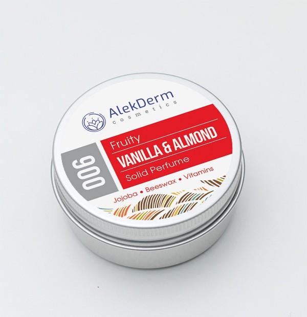 006 Vanilla & Almond Fruity - Čvrsti parfem AlekDerm