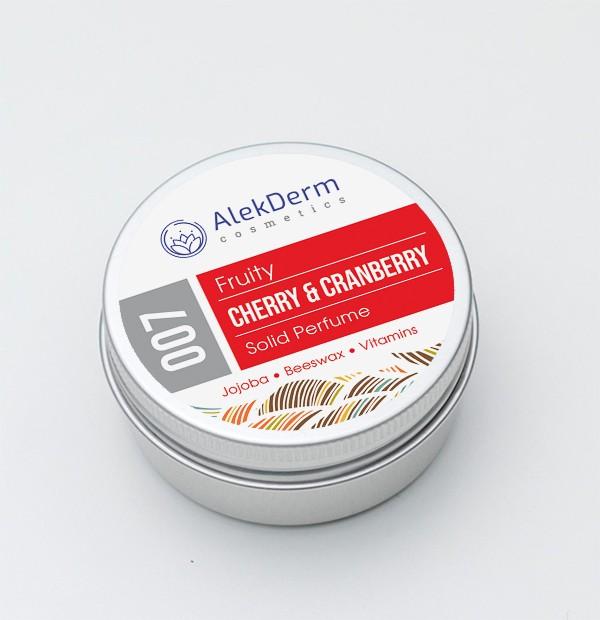 007 Cherry & Cranberry Fruity - Čvrsti parfem AlekDerm