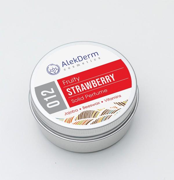 012 Strawberry Fruity - Čvrsti parfem AlekDerm