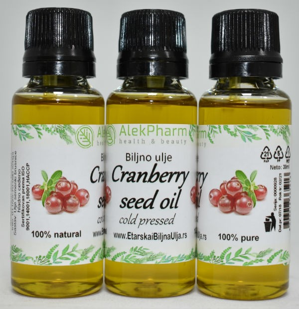 ULJE BRUSNICE HLADNO CEDJENO - CRANBERRY OIL COLD PRESSED