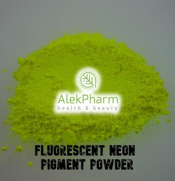 20 GREEN YELLOW FLUO NEON MICA EFEKTNI PIGMENT
